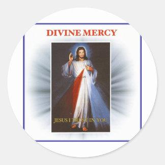 Divine Mercy Classic Round Sticker