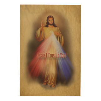Divine Mercy Devotional Image. Wood Wall Art
