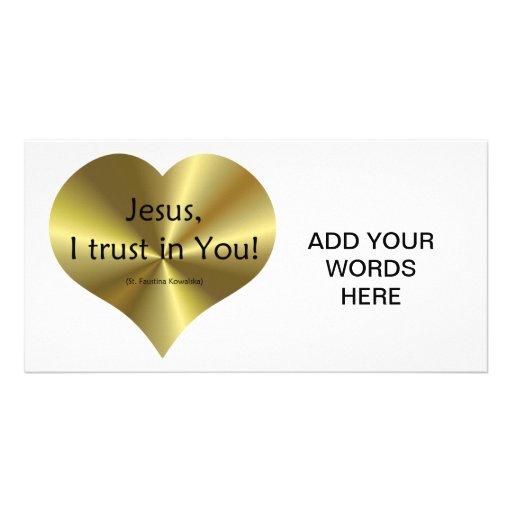 "Divine Mercy - ""Jesus I trust in You "" Custom Photo Card"