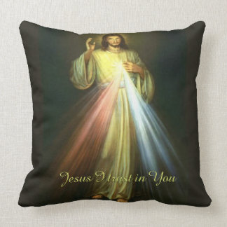 Divine Mercy Jesus I Trust in You Throw Pillow