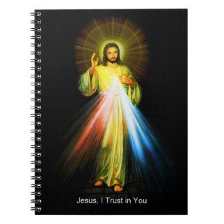 Divine Mercy Jesus Notebook