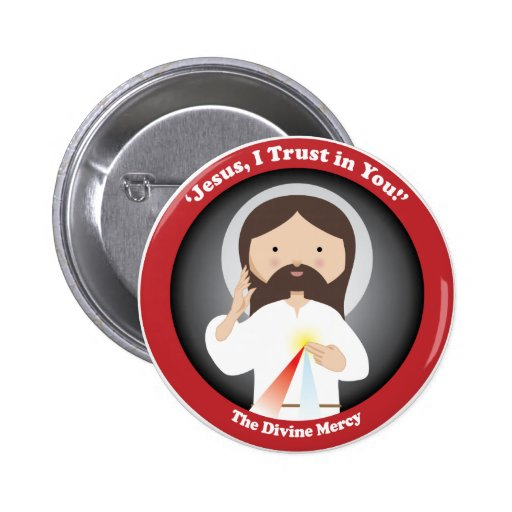 Divine Mercy of Jesus Pinback Buttons