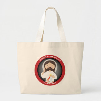 Divine Mercy of Jesus Large Tote Bag