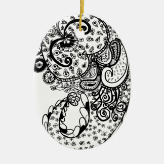 Divine Paisley Ceramic Ornament