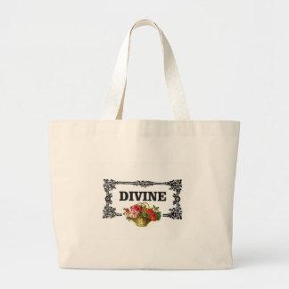 divine pink flowers large tote bag