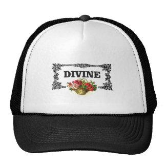 divine pink flowers trucker hat
