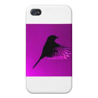 Divine Purple Bird Case For iPhone 4