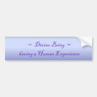 DivineBeing having a Human Experience Bumper Bumper Sticker