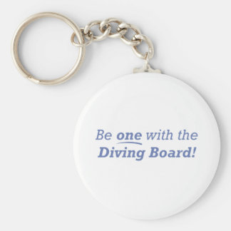 Diving Board / One Basic Round Button Keychain