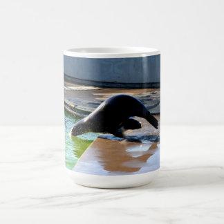 Diving Californian sea lion Coffee Mug