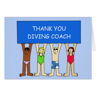 DIVING COACH THANK YOU CARD