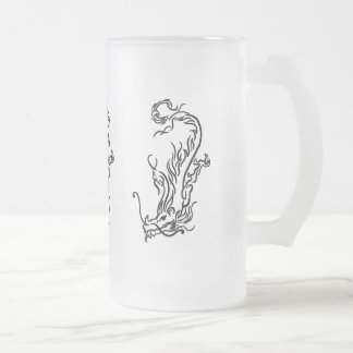 Diving Dragon Frosted Glass Stein Mugs