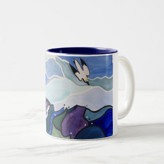 Diving Gannets Painting Mug