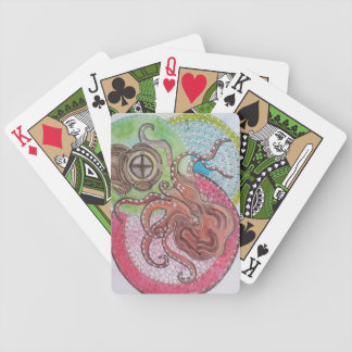 Diving helmet bicycle playing cards