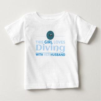 diving_husband baby T-Shirt