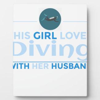 diving_husband plaque
