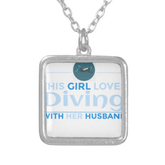 diving_husband silver plated necklace