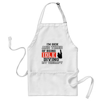 diving is my therapy standard apron