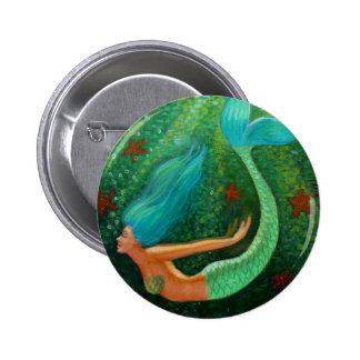 Diving Mermaid 2 Inch Round Button