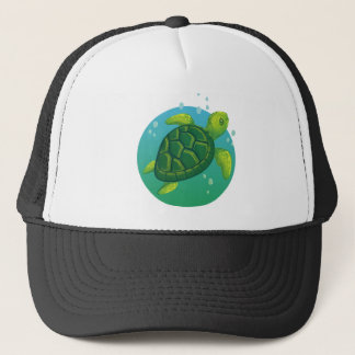 Diving more water ocean sea turtle trucker hat