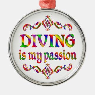 Diving Passion Metal Ornament
