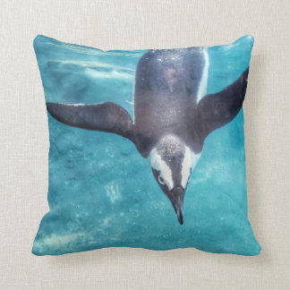 Diving Penguin Throw Pillow