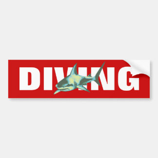 diving - sharks bumper sticker