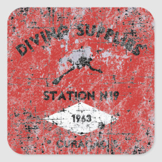 Diving Supplies Square Sticker