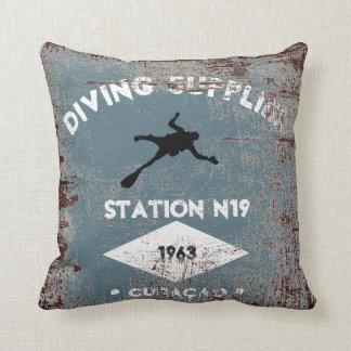 Diving Supplies Throw Pillow