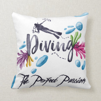 Diving The Perfect Passion Throw Pillow