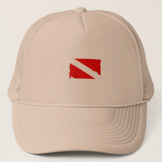 diving trucker hat