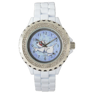 Diving Westie Wrist Watch