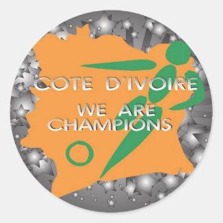 d'Ivoire 2010 de Cote Sticker Rond