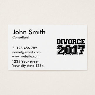 Divorce 2017 business card