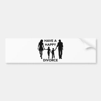 divorce bumper sticker