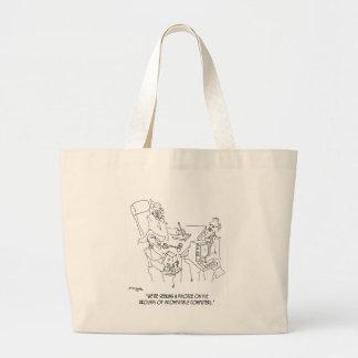 Divorce Cartoon 1309 Large Tote Bag