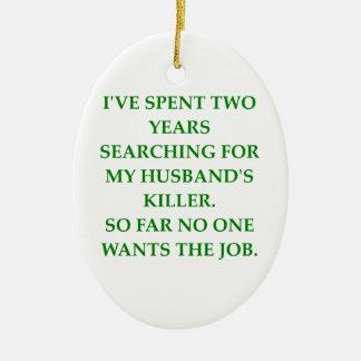divorce ceramic ornament