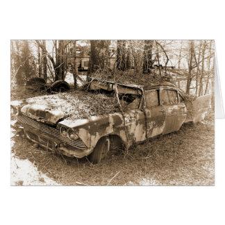 Divorce, Humor, Vintage Wrecked Car Card