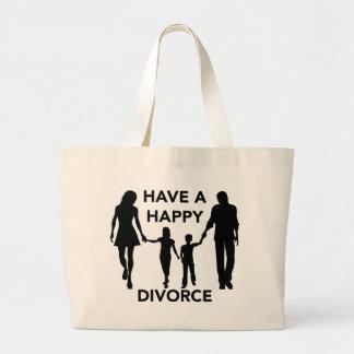 divorce large tote bag