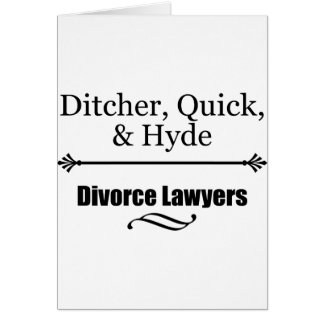 Divorce Lawyers Card