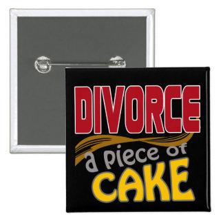 Divorce - morceau de gâteau pin's