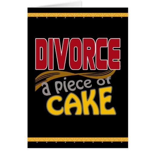 Divorce - morceau de gâteau carte de vœux