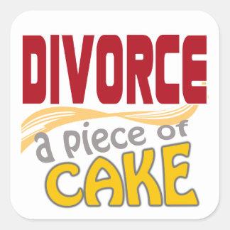 Divorce - morceau de gâteau sticker carré