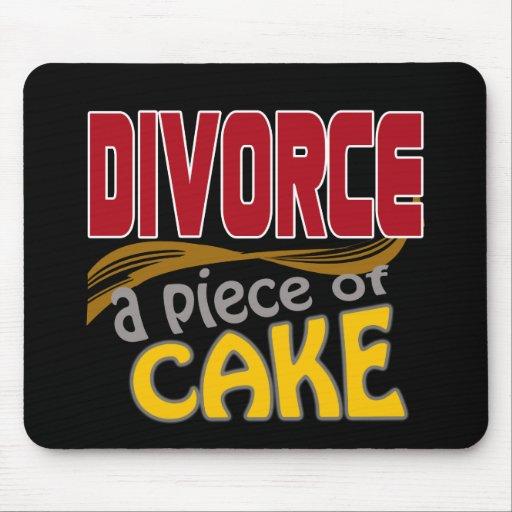 Divorce - morceau de gâteau tapis de souris