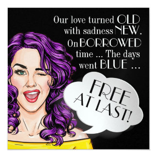 Divorce Party Time Pop Art Invitation