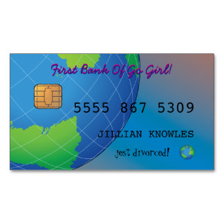 Divorce Personalize Go Girl Bank Debit Business Card Magnet