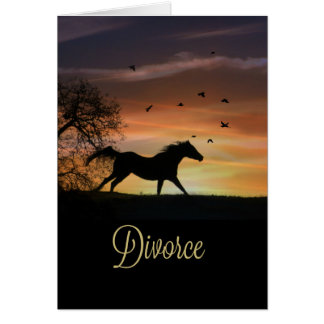 Divorce Support Encouragement Card Horse Running
