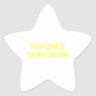 Divorce Survivor - 1 - Yellow Star Stickers