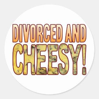 Divorced Blue Cheesy Round Sticker