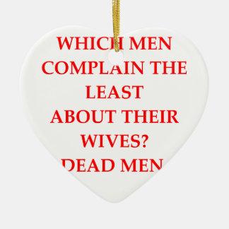 DIVORCED CERAMIC ORNAMENT